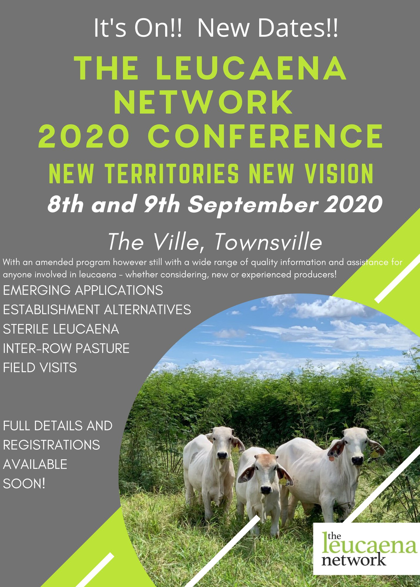 The Leucaena Network 2020 Conference flyer
