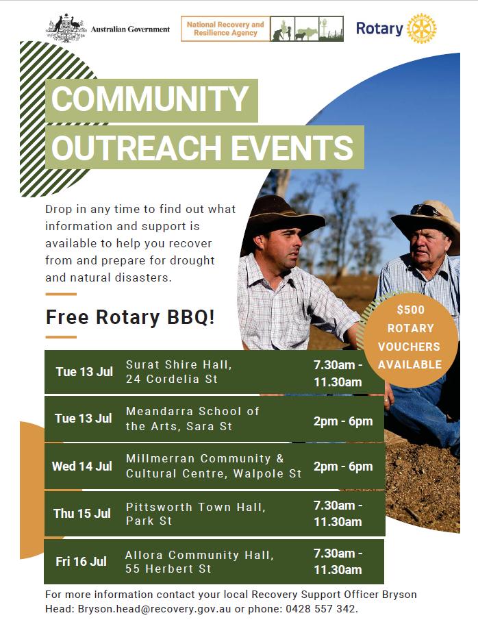 Community outreach flyer