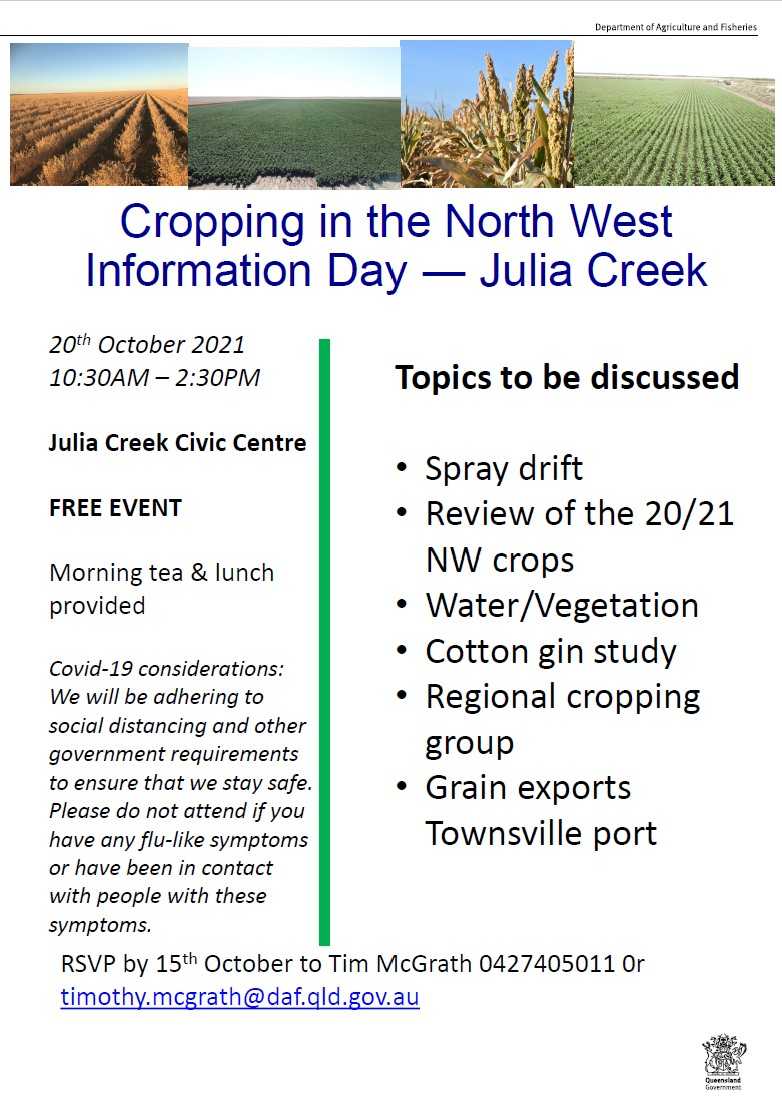Cropping information in the north west f
