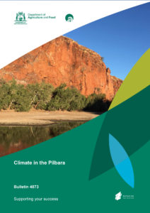 Cover page of the Department of Agriculture and Food's 'Climate in the Pilbara' report.