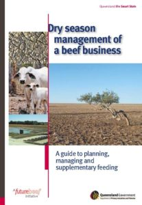 Cover page of the 'Dry season management of a beef business: a guide to planning, managing and supplementary feeding' booklet