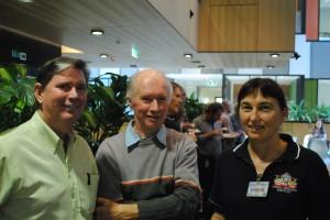 Stephen Nottingham, DAF (r), Richard Silcock and Alison Spencer (l).